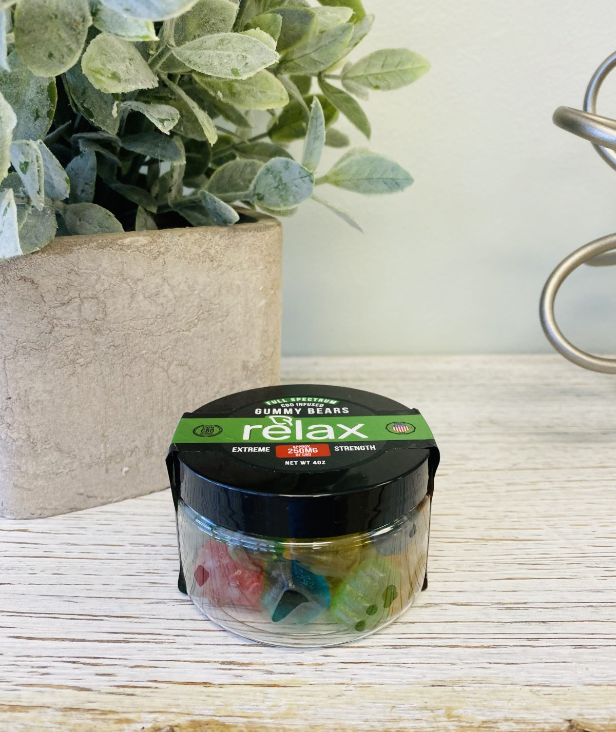 CBD Infused Relax Gummy Bears 250mg 4oz Full Spectrum